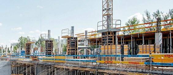 Univerzální plošina pro stavbu sloupů.