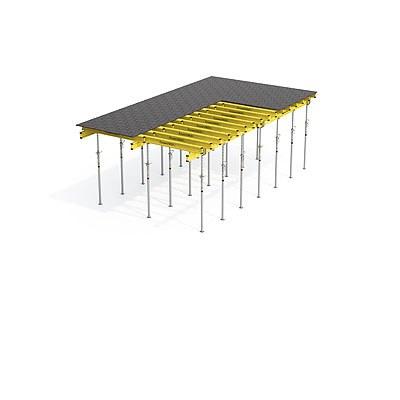 Prvkové stropní bednění s dřevěnými nosníky ENKOFLEX